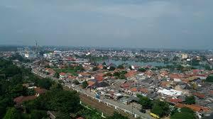 Inilah sebagian wilayah Kecamatan Pancoran Mas diambil dari Balaikota Depok.