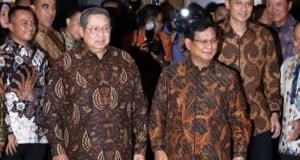 Pertemuan SBY dengan Prabowo Subianto.