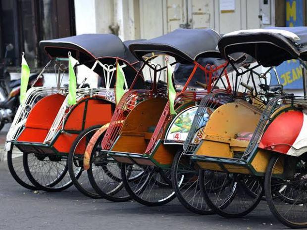 Becak akan menjadi angkutan resmi di Jakarta