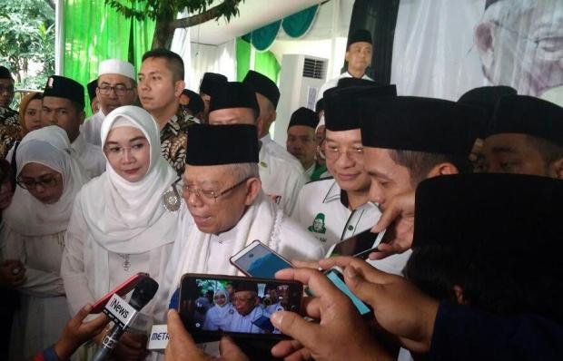 Ma'ruf Amin berkunjung ke Kota Depok.