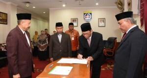 Yayan Arianto ketika dilantik sebagai Asisten bidang Administrasi dan Pemerintahan pada 9 November lalu.