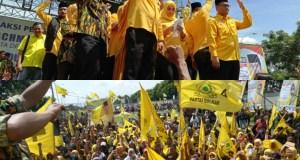 Ribuan saksi Partai Golkar menggelar apel siaga,  Sabtu 13 April 2019