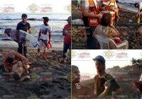 Héroes sin capa rescatan de las aguas marinas del Real, a pareja de Guadalajara