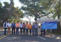 Arrancan la instalación de puntos de prevención del coronavirus en municipio de Cuauhtémoc, del operativo anunciado por el alcalde Rafael Mendoza