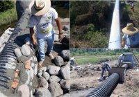 En Cof. De Juárez Chava Bueno soluciona problema de aguas negras que desembocan al Río Armería