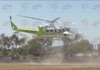Helicóptero traslada de Tecomán a Guadalajara a funcionarios de Jalisco accidentados en Armería