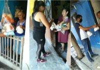 En Tecomán periodista, empresas y ciudadanos donan huevo, despensas, leche y tortillas a 500 familias