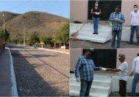 Sin descuidar medidas por COVID-19 pobladores del plan del Zapote, reciben apoyo del programa empleo temporal.