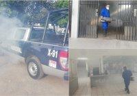 Policía Municipal de Colima sanitiza instalaciones y patrullas de manera constante.