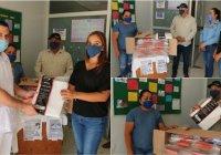 El presidente Carlos Carrasco entregó 500 caretas al hospital de Ixtlahuacán