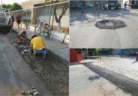 Personal de obras públicas encabezó, intensa jornada de mantenimiento de vialidades en Tecomán