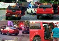 Tras persecución, vehículo que huía choca contra camioneta de la Fiscalía y atropella a una mujer en Tecomán