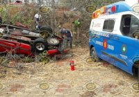 Reportan dos hombres lesionados tras volcadura libre de Cuauhtémoc a la comunidad de Alcaraces