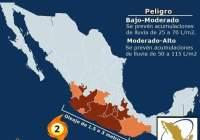 Depresión Tropical Cinco-E al sur de la costa de Acapulco, podría provocar fuertes lluvias en Colima