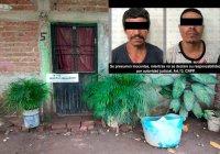 Capturan a dos sujetos y les aseguran droga