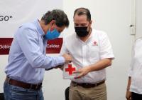 Exhorta el alcalde Elías Lozano a tecomenses contribuir en la colecta anual de la Cruz Roja 2020
