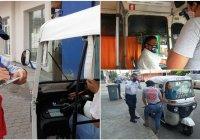 Operativo en unidades del transporte público de Tecomán, arrojan que 85% de choferes usan cubre bocas