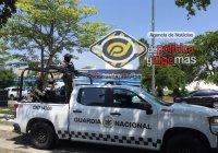 Guardia Nacional inicia cateo dentro de un lote de autos al norte de la ciudad, Colima