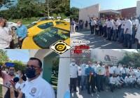 Realizan pinta de taxis en Colima para invitar a usuarios a la Colecta Diamante