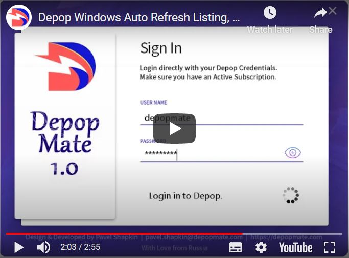 Depop Bot DepopMate Windows OS