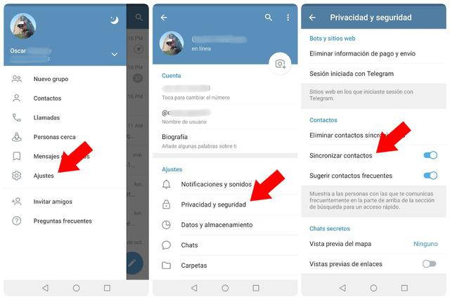 What we're going to do is allow Telegram to access your contacts.  (Photo: Mag)