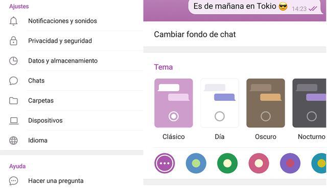 De esta manera es posible cambiar el color de Telegram de forma sencilla y rápida.  (Foto: MAG)