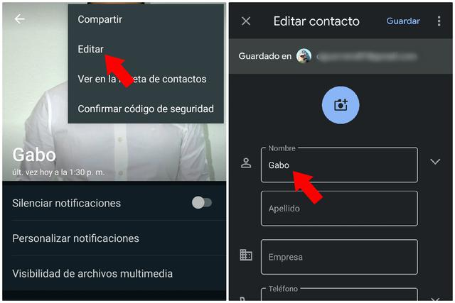 Change the name of a contact from a chat.  (Photo: Mag)