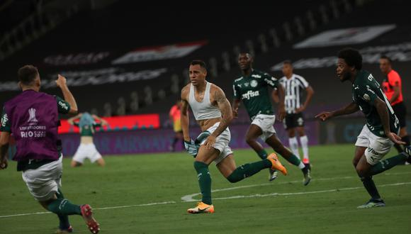 Palmeiras venció a Santos por la mínima diferencia y se llevó la Copa Libertadores 2020. | Foto: AFP