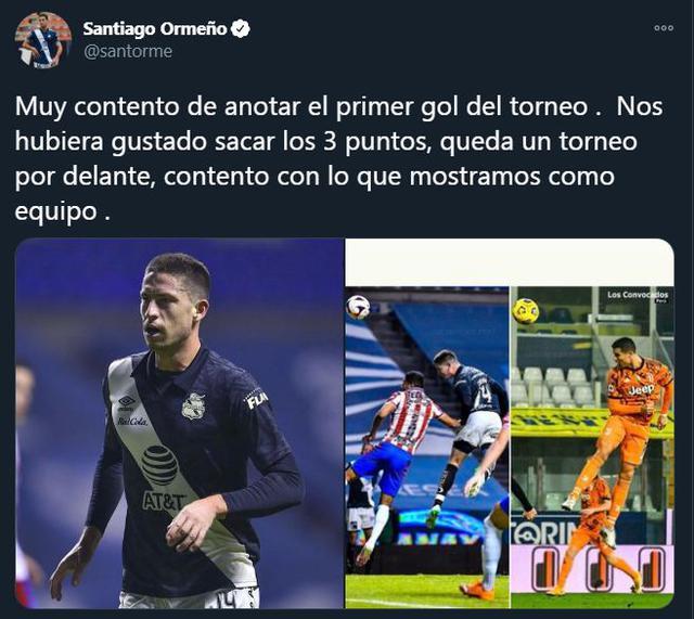La publicación de Santiago Ormeño con Cristiano Ronaldo. (Foto: Twitter)