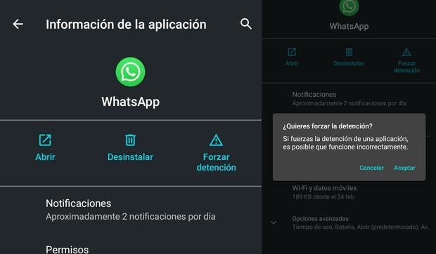 """Como debes """"forzar cierre"""" en WhatsApp"""