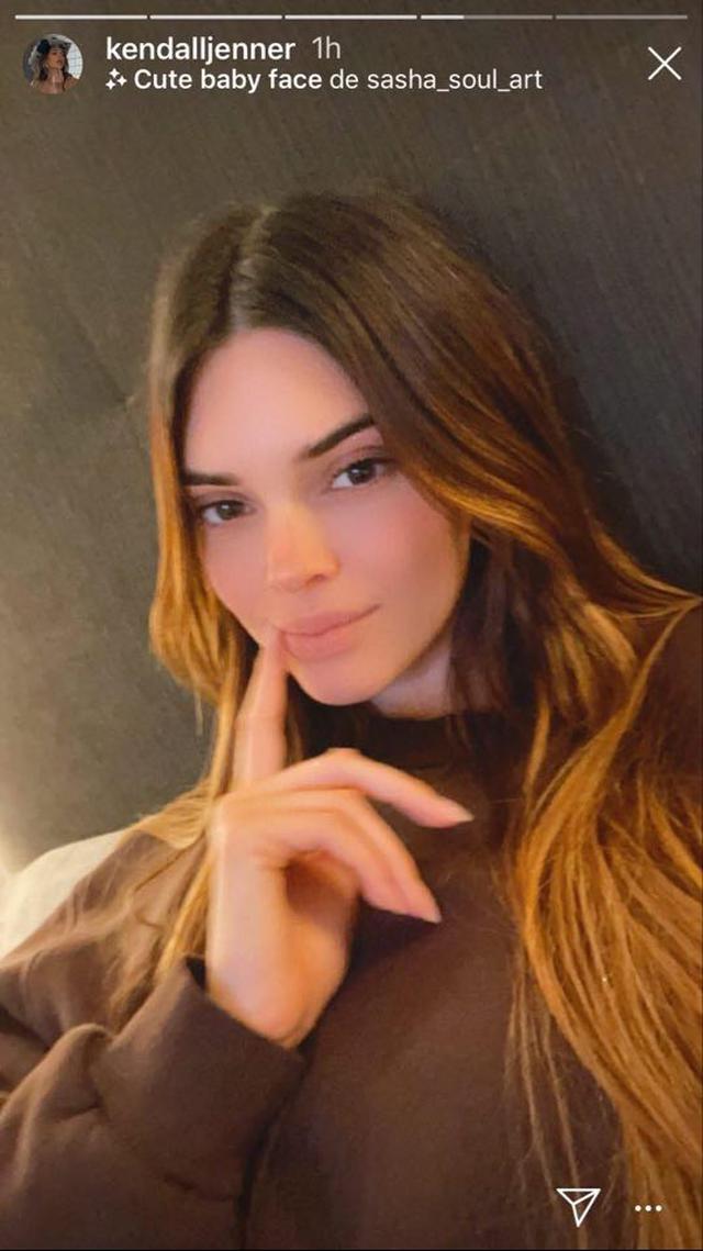 Esta es la imagen que Kendall Jenner subió a Instagram Stories.  (Foto: @kendalljenner)