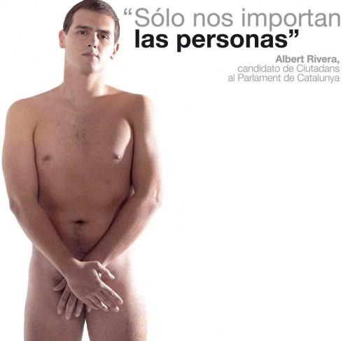 Deportista gran parte de su vida, Albert Rivera se desnudó en su primera campaña electoral.