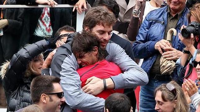 Pau Gasol y Rafa Nadal comparten una gran  amistad y la misma empresa de comunicación.