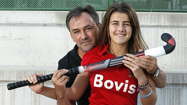 La hija de Anacleto Jiménez ya destaca en el hockey mientras su hijo Sergio sigue sus pasos en el mediofondo. (Foto: Marca.com)