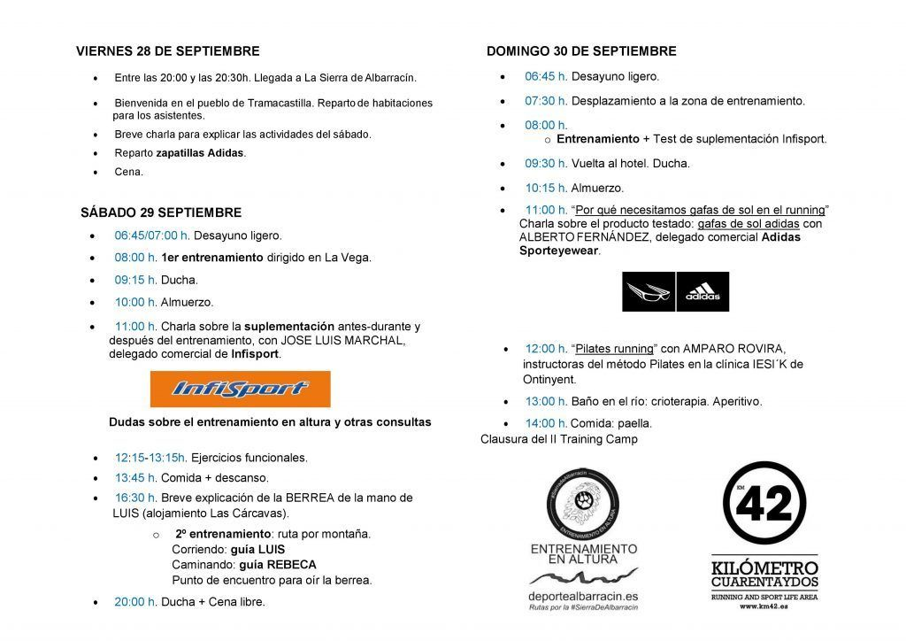 Programa II Training Camp Running Sierra de Albarracin (Teruel)