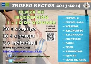 INFORMACIÓN E INSCRIPCIONES TROFEO RECTOR