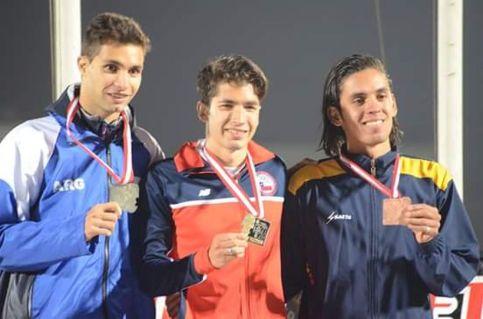 Carlos Díaz, medalla de oro en 1.500 metros. Foto: Facebook.