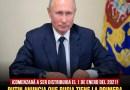 PUTIN ANUNCIA QUE RUSIA TIENE LA PRIMERA VACUNA DEL MUNDO CONTRA EL CORONAVIRUS