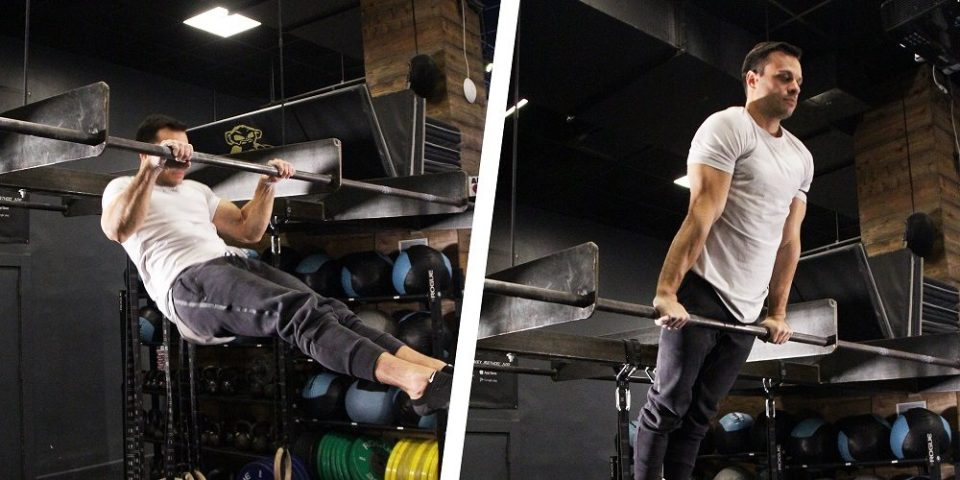 Ejercicio con barras, muscle up