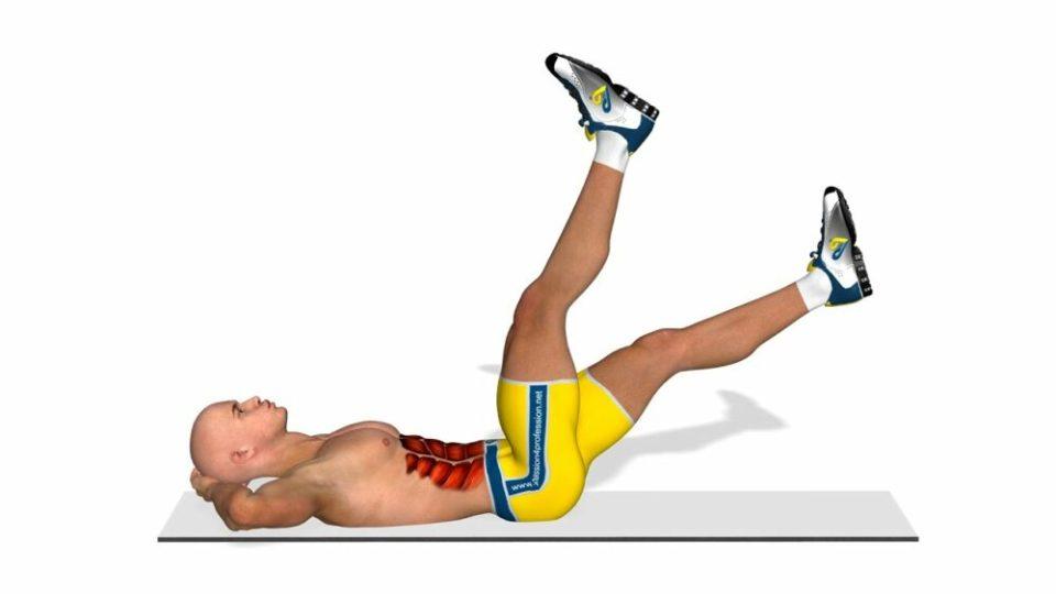 Elevación de piernas alternas