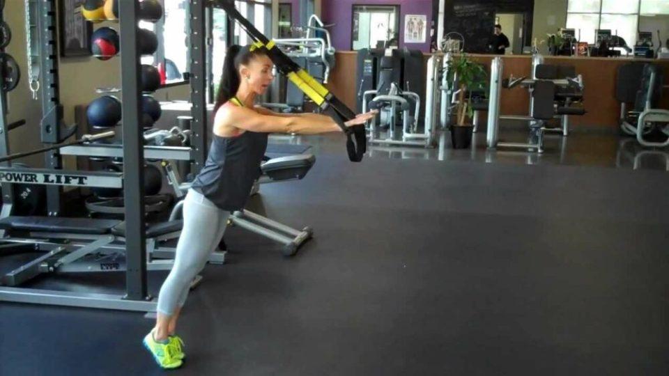 ejercicios de brazos con TRX