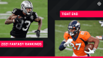 Updated Fantasy Football TE Rankings 2021: Best tight ends to draft, sleepers to know