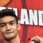 Sanjeet, Shiva Thapa, Hussamuddin en la final del boxeo nacional masculino de élite