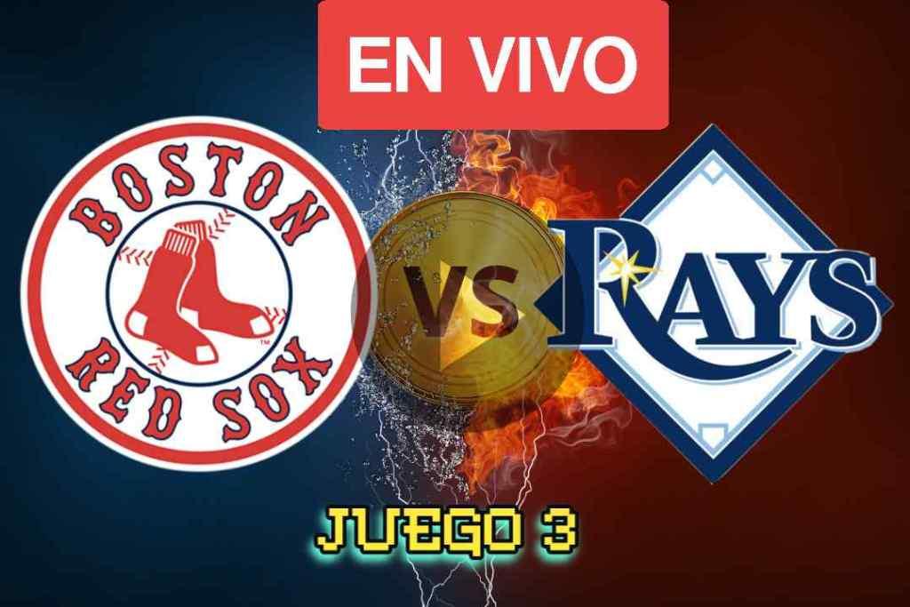 Ver Hoy Red sox Vs Rays Juego 3 En vivo Online