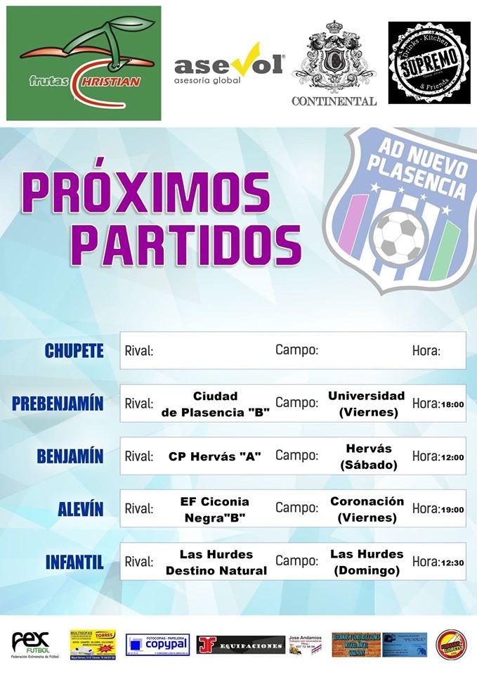 Próxima Jornada - Asociación Deportiva Nuevo Plasencia
