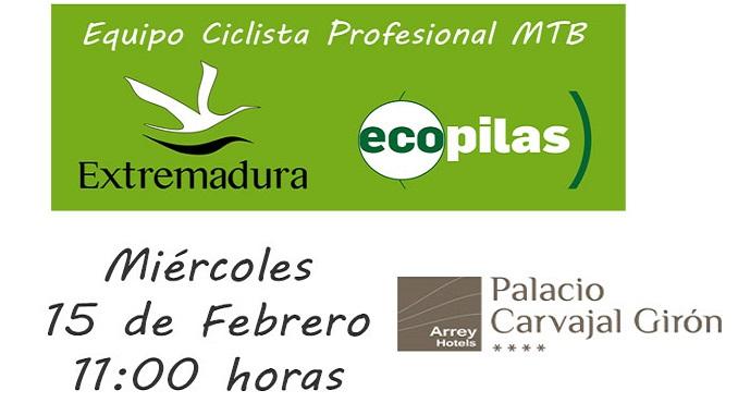 Presentacion Extremadura Ecopilas MTB Team