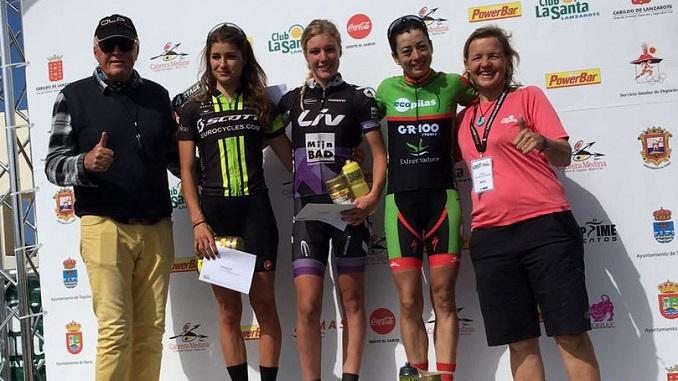 Susana Alonso (Extremadura-Ecopilas) subcampeona de la 4 Stage MTB Lanzarote tras hacer una gran etapa reina