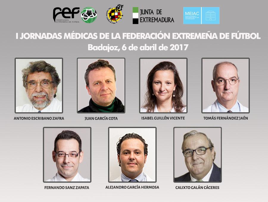 ponentes- I JORNADAS MÉDICAS DE LA FEDERACIÓN EXTREMEÑA DE FÚTBOL