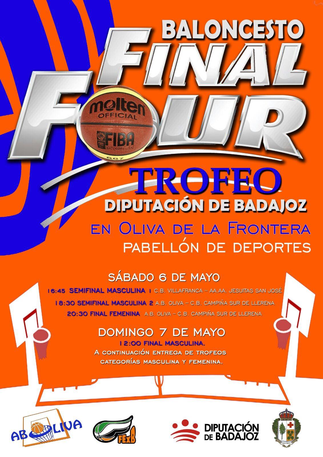 Presentación de las Finales del Trofeo Diputación de Badajoz de Baloncesto - Final Four Dip BA