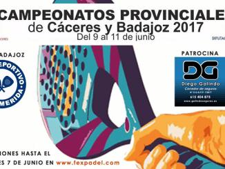 Campeonatos Provinciales de Badajoz y Cáceres trofeo Diputación provincial de Badajoz 2017 y Diputación provincial de Cáceres 2017